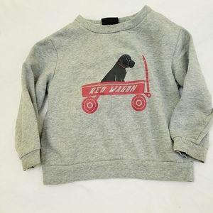 Red wagon puppy graphic sweatshirt Joe boxer 2T
